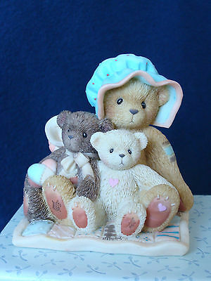 Cherished Teddies - Mom/Kids Figurine - 10th Anniversary - 978841 - 2001