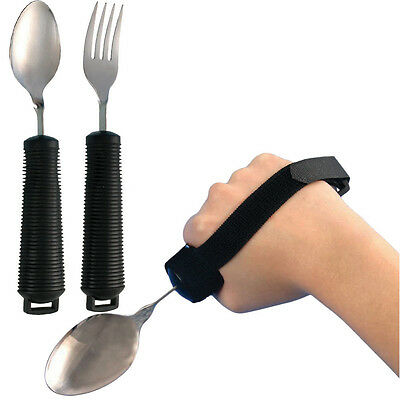 TheBigShip® Bendable Spoon And Fork Set With Utensil Strap