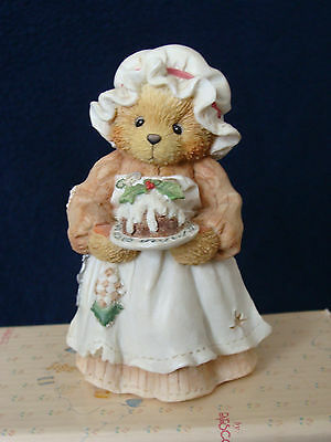 Cherished Teddies - Mrs. Cratchit - Bear With Cake And Bonnet - 617318 - 1994