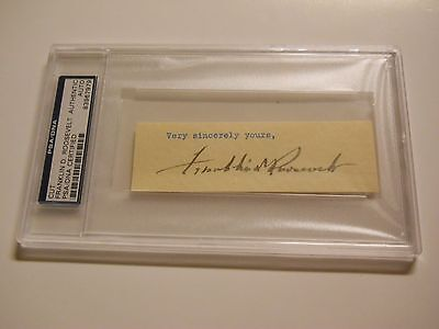 FRANKLIN D. ROOSEVELT SIGNED CUT PSA/DNA CERTIFIED AUTHENTIC AUTO 32nd PRESIDENT
