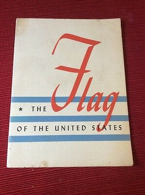 Vintage 1944 The Flag of The United States John Hancock Mutual Booklet