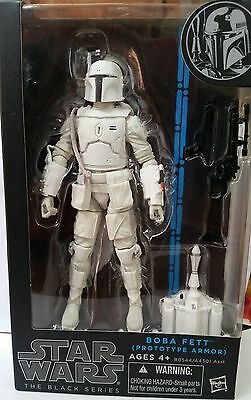 Star Wars BLACK SERIES 6 inch BOBA FETT * EXCLUSIVE Prototype WHITE ARMOR MINT