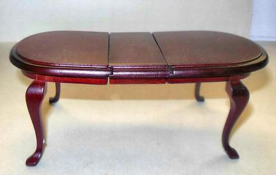 Queen Anne Dining Room Table Mahogany #883 Dollhouse Furniture Miniatures