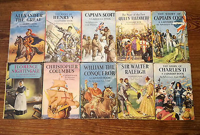 10 Vintage 1956-63 Ladybird Books With Dust Covers History Series 561 1st Ed VGC