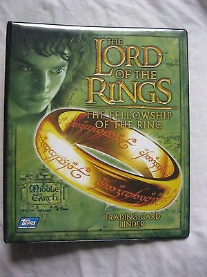 Topps Lotr Lord Of The Rings The Fellowship Of The Ring Empty Binder Nm/mt