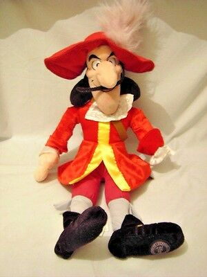 Disney Store Captain Hook Soft Toy / Doll From Peter Pan