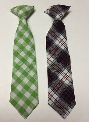 "Lot /2 Target Brand Toddler Boys Clip On Ties Size 2T-5T, 9"" EUC"