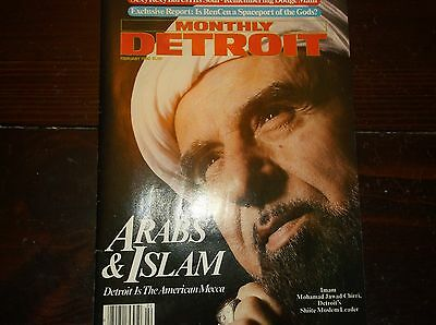 Vintage MONTHLY DETROIT Magazine Arabs&Islam/Feb,1980/Islam Article/Dodge Main P