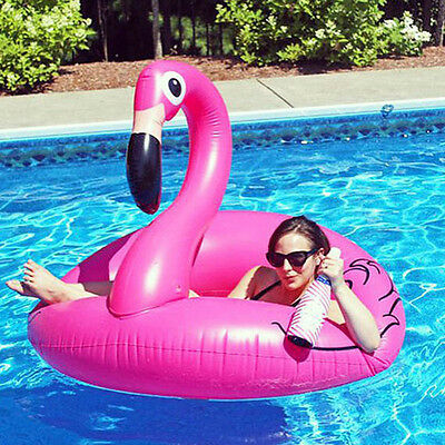 Giant Inflatable Flamingo Pool Tube Beach Lounger Float Swimming Water Ring Toy