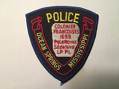 Ocean Springs MISSISSIPPI Police Patch