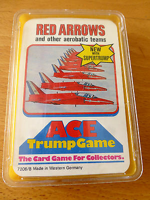 Vintage (1970s) Ace Trump Game card set - Red Arrows & other aerobatic teams