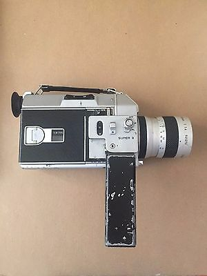 Canon Auto Zoom 814 Super 8 Movie Camera 1:1.4/7.5-60mm Parts or Repair - As Is