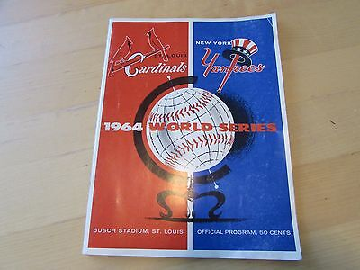 1964 World Series St. Louis Cardinals vs. NY Yankees Game #2 Program – Scored