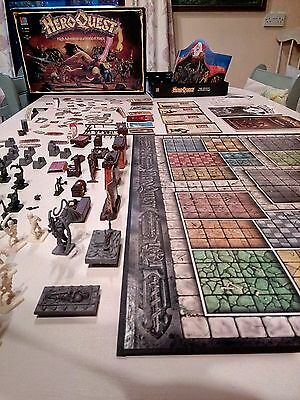 Hero Quest Boardgame - Games Workshop - MB - Not complete but a lot of parts