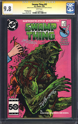 SWAMP THING #43 (Alan Moore) CGC 9.8 SS / Signed by John Totleben & Bissette!