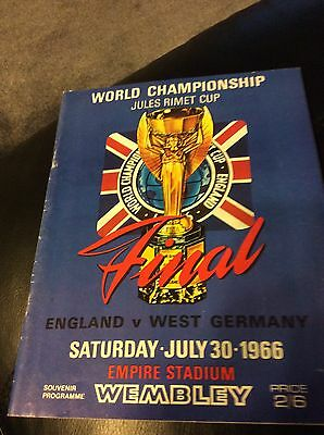 1966 World Cup Official Programme England  V Germany Good Condition