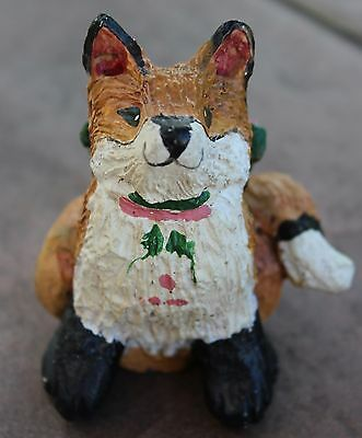 House of Hatten Snow Meadow Fox HOH 1992 Christmas Ornament