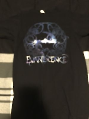 Evanescence Amy Lee Small Men's Unisex 2011 Hot Topic Logo T shirt