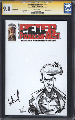 PETER PANZERFAUST #10 CGC 9.8 SS / Sketch by Tyler Jenkins! Signed by Wiebe!