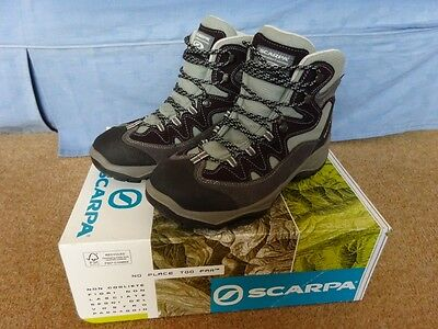Scarpa Cyclone GTX Women's Walking Boots Goretex size UK 6.5 (40) Grey/Purple.