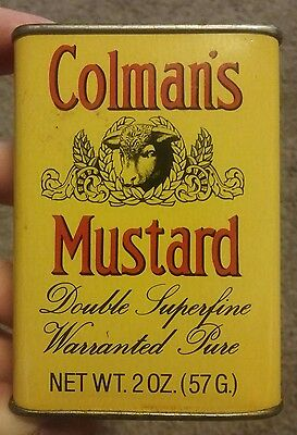 Vintage Colman's Bull's Head 2 Oz Mustard England Advertising Tin Can