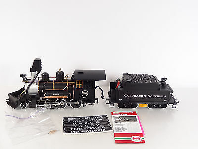 LGB G Scale Colorado & Southern C&S 2-6-0 Steam Engine and Tender 2319S New
