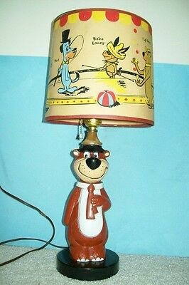 Rare/Vintage 1960 Yogi Bear Lamp with Original Shade - Works