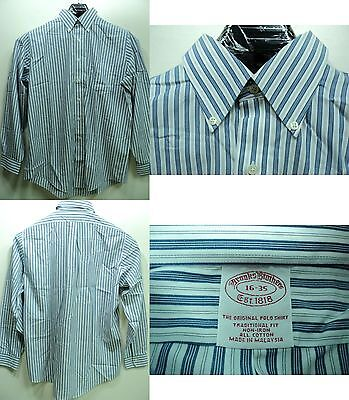 Brooks Brothers Men Button Down Non Iron Traditional Fit Polo Shirt size 16/35