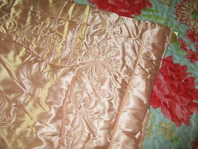 Vintage 30s Historic Palmer Comfortables Hollywood Era Liquid Satin Throw Quilt