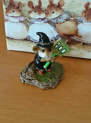 "Wee Forest Folk  M-214  ""Little Boo-Boo"" (DP) Black with Red Shoes Mint"