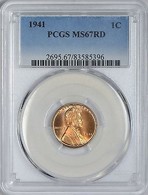 1941 Lincoln Cent PCGS MS67 Red