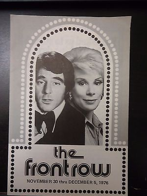 1976 Anthony Newley & Joan Rivers at Front Row Theater Playbill