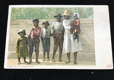 1910 Racist Afro-American Postcard. Written By Girl In Original Picture