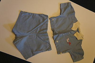 Antique Children's Clothing  - Vintage Boys baby blue short set - early 1900's