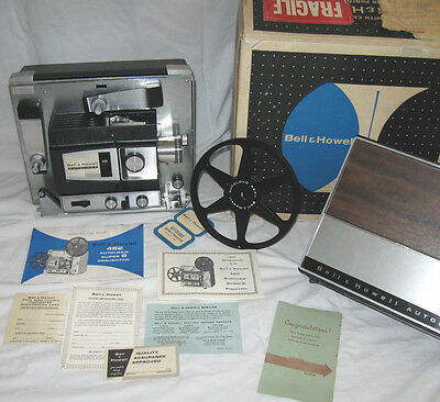 Bell & Howell 482 Super 8mm Film Projector w/ Working Bulb Org. Box *EXCELLENT*