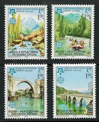 Bosnia (Serbia) 2006 50th Anniversary Europa set #257-60 Mint NH (Sc $12 US)