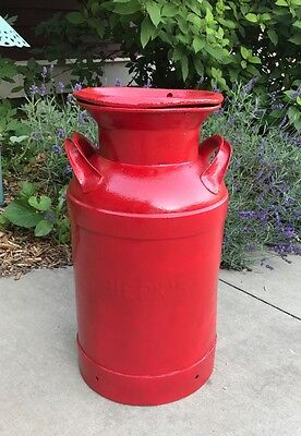 Great 5 Gallon Antiqued Red Milk Can