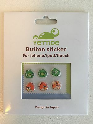 iPhone iPad iTouch home button sticker - Colorful button patterns!