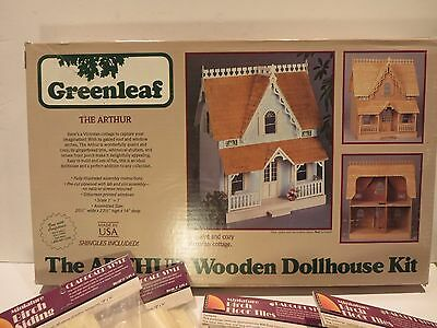 Greenleaf The Arthur Victorian Wooden Doll House Kit w/ Xtra Shingles and Siding