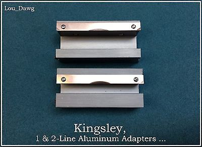 Kingsley Machine ( 1 & 2-Line Aluminum Adapters  ) Hot Foil Stamping Machine