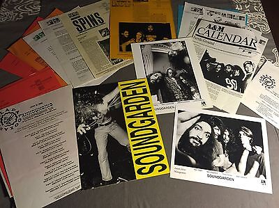 SOUNDGARDEN PRESS KITS + Photos CHRIS CORNELL 1989-92 ORG Temple Of The Dog A&M