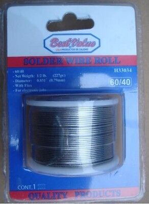SOLDER WIRE ROLL,60% tin and 40% lead,227g