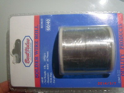 SOLDER WIRE ROLL,60% tin and 40% lead, rosin 2-3%,454gram