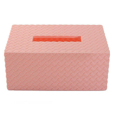 Pink Plastic Tissue Box Paper Napkin Holder Storage Case Cover For Home Hotel