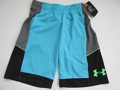 Under Armour Heat Gear Boys' Meridian Blue Shorts Size Youth 7 - NWT