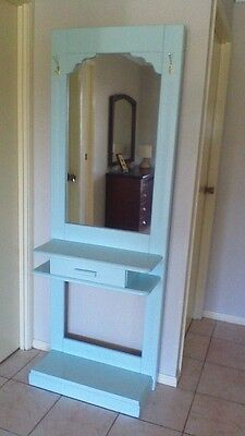 Timber Hallstand with Mirror and Drawer