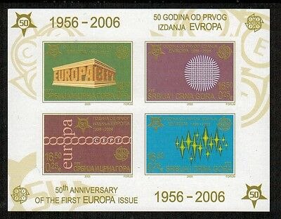 Serbia 2005 50th Anniversary Europa Imperf S/S #289a variety NH (unlisted)