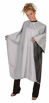 LOWEST$Betty Dain Reversible Cape Black Silver Styling Chemical Gown Barber/Hair