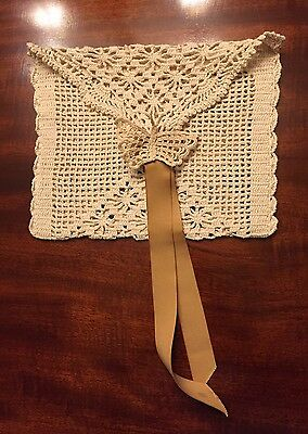 Antique Handmade Lace Bag
