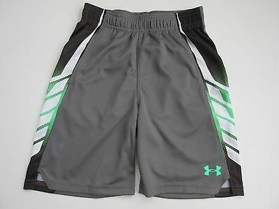 Under Armour Heat Gear Boys' Graphite (Gray) Shorts Size Youth 7 - NWT